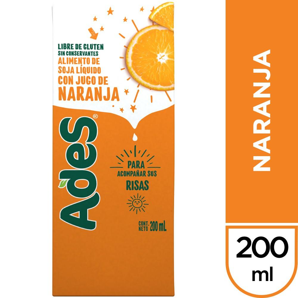 Alimento de soya sabor naranja