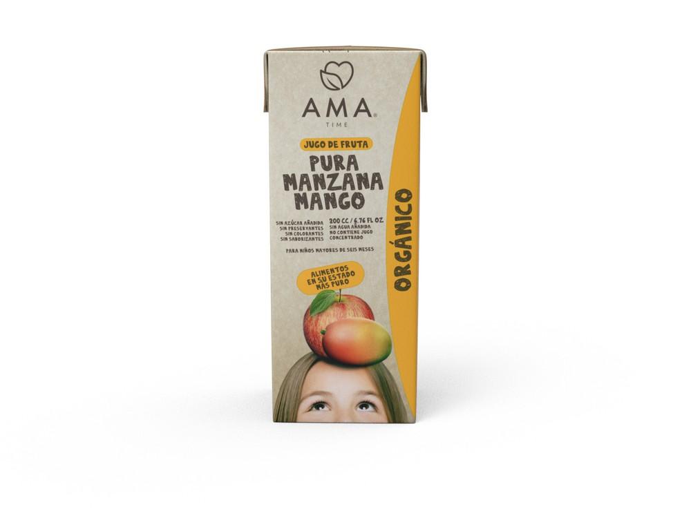 Jugo de manzana y mango orgánico 200 ml