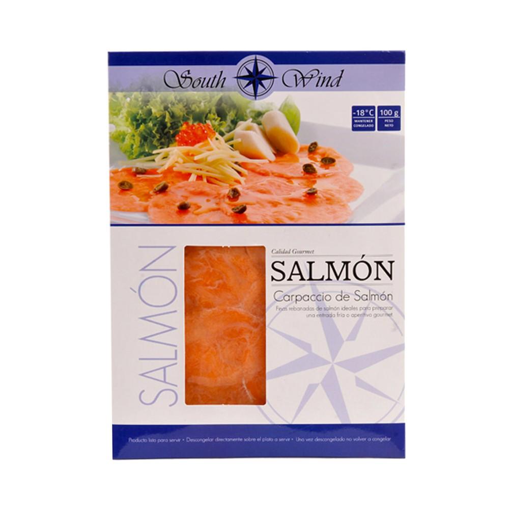 Carpaccio de salmón congelado