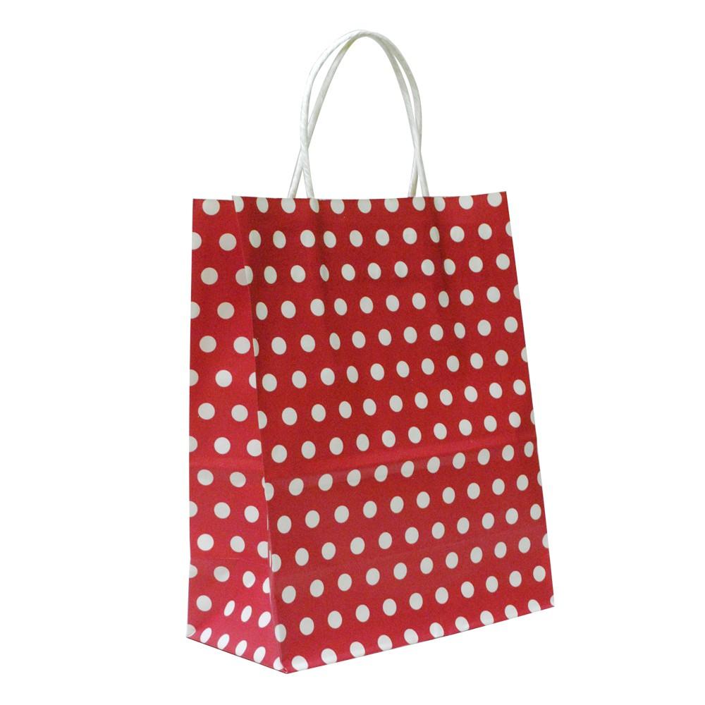 Bolsa de regalo puntos rojos