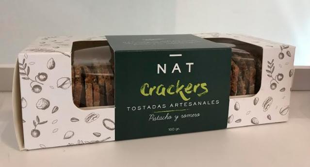 Nat cracker pistacho, romero