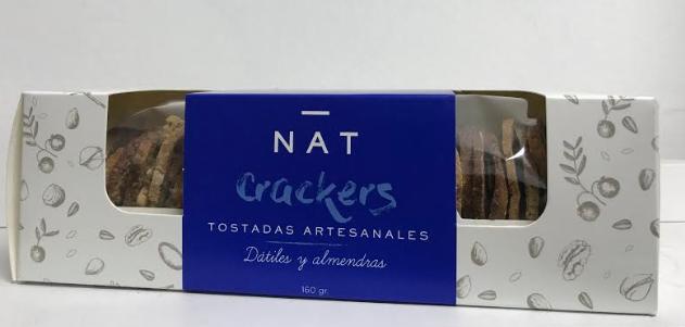 Cracker dátiles y almendras