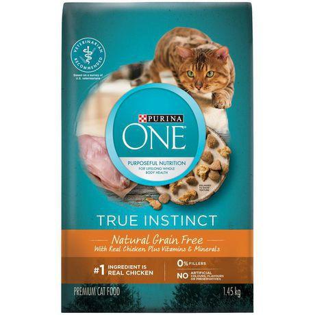 True instinct grain free natural dry cat food chicken formula