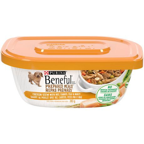 Prepared meals simmered chicken stew dog food