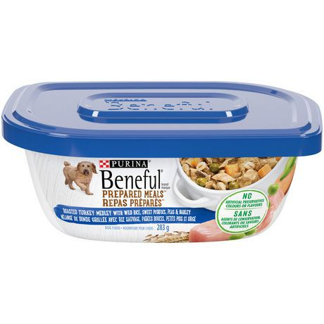 Prepared meals roasted turkey medley dog food