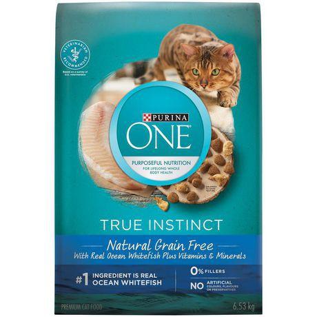 True instinct grain free natural dry cat food ocean whitefish formula