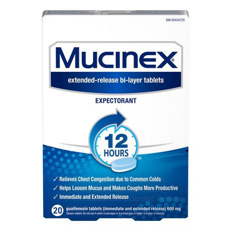 Mucinex® 12-Hour Chest Congestion Expectorant Guaifenesin Tablets