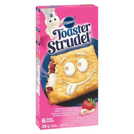 Pillsbury™ Toaster Strudel™ Strawberry Flavour with Cream Cheese Style Filling