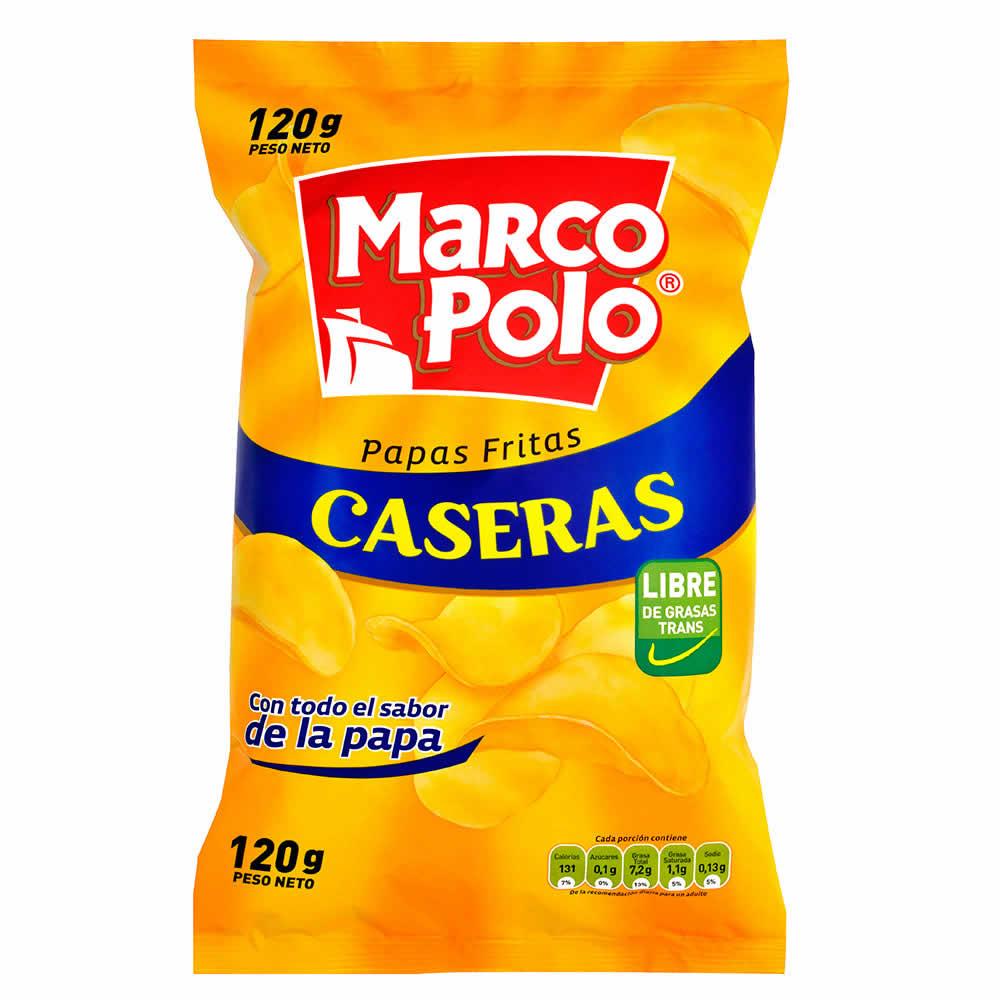 Marco Polo, Papas Fritas Caseras Corte Liso Bolsa 120 g