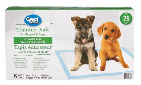 Great Value X-Large Puppy Training Pads