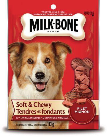 Milk-Bone Soft & Chewy Filet Mignon Flavour Dog Treats 113g