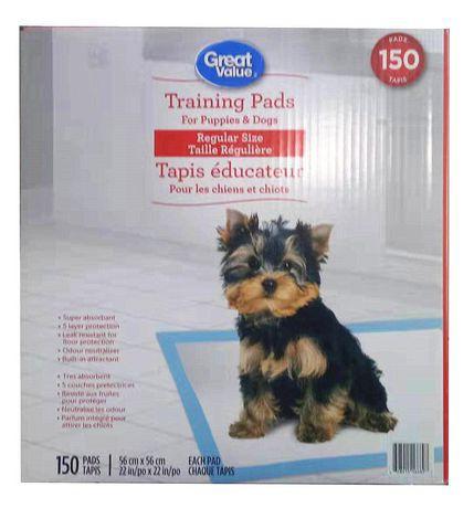 Great Value Regular Puppy Training Pads
