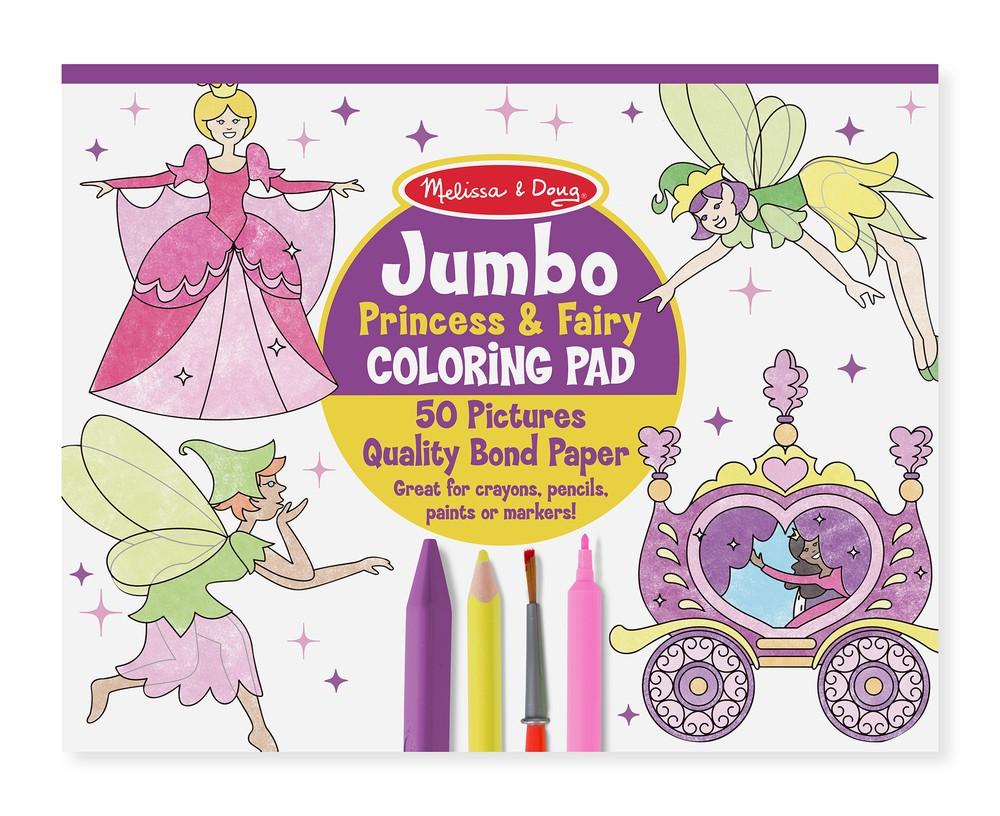 Pad para pintar princesas y hadas Envoltorio plástico 36 cm x 28 cm x 1 cm, 350 grs.