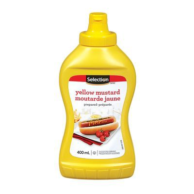 Prepared yellow mustard