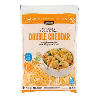 Double cheddar shredded cheese blend