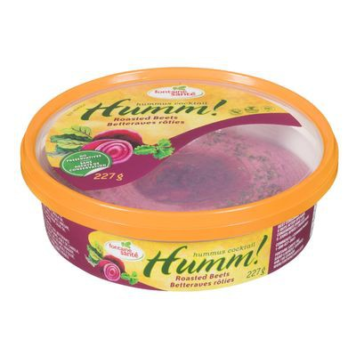 Hummus with roasted beets, Humm!
