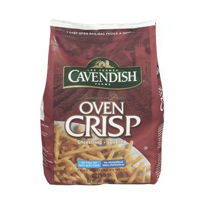Frozen shoestring cut fries, Oven Crisp