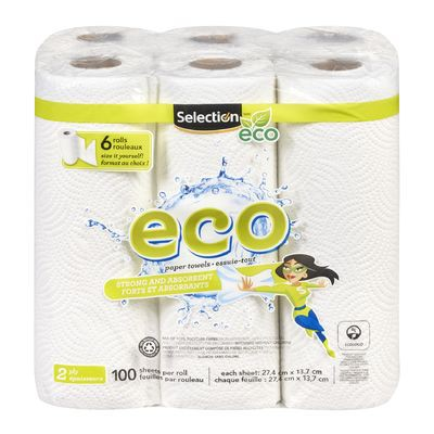 2-ply paper towels, Eco