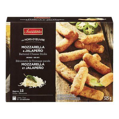 Frozen Battered Mozzarella Jalapeno Cheese Sticks Irresistibles 325 G Delivery Cornershop Canada