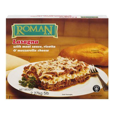 Frozen meat, ricotta and mozzarella flavoured lasagna