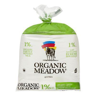 Organic partly skimmed milk 1%