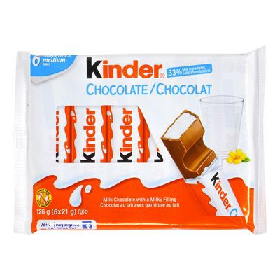 Milk chocolate with a milky filling, Kinder