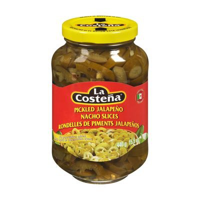 Pickled jalapeño nacho slices
