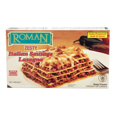 Frozen Italian sausage lasagna