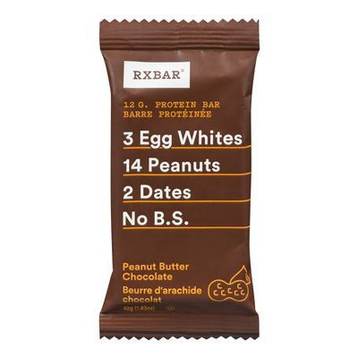 Peanut butter and chocolate protein bar
