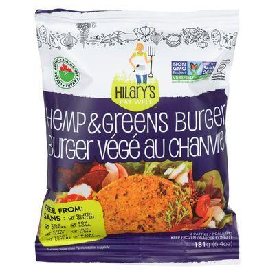 Hamp & green veggie burger patties
