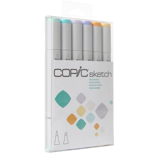 Marcador copic sketch pale pastel paquete con 6