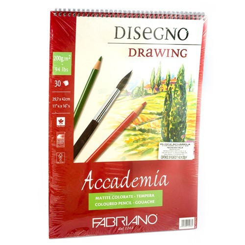 Block fabriano accademia drawing 200 g 29.7x42 cm