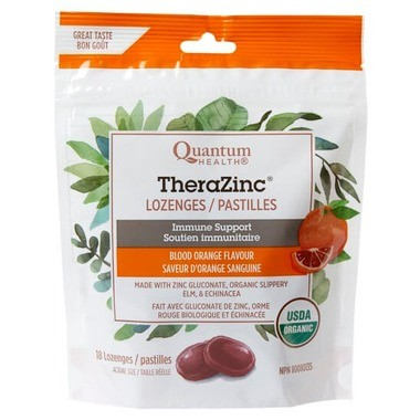 Organic orange flavoured TheraZinc cough drops, TheraZinc