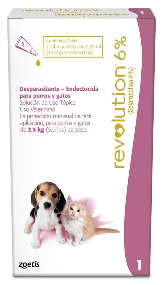 Revolution 6% perros y Gatos hasta 2,5 kg Pipeta 0.25 ml
