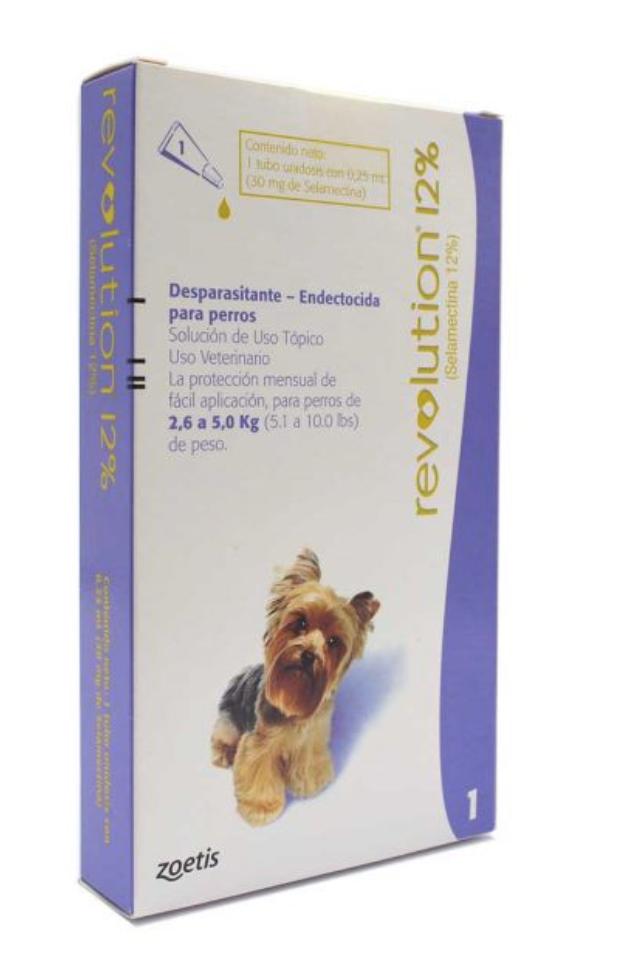 Revolution 12% para perro de  2.5 - 5.0 kg