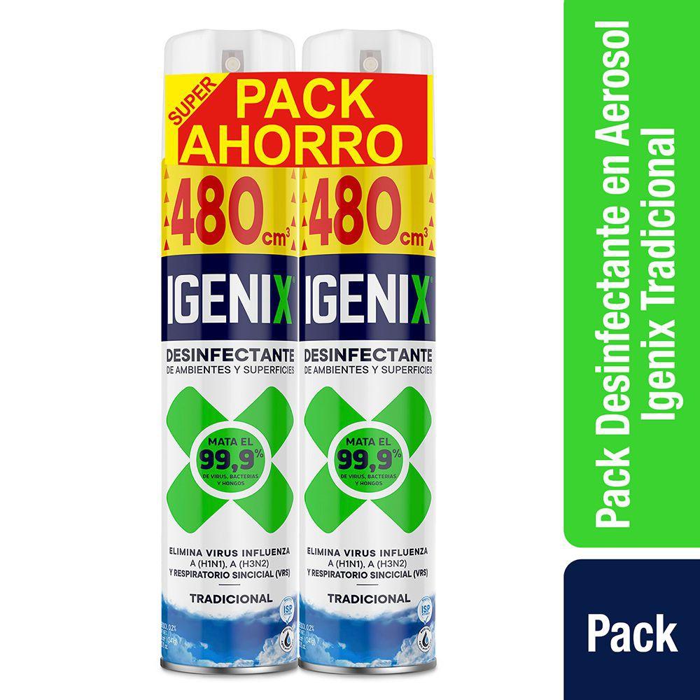 Pack desinfectante de ambientes y superficies