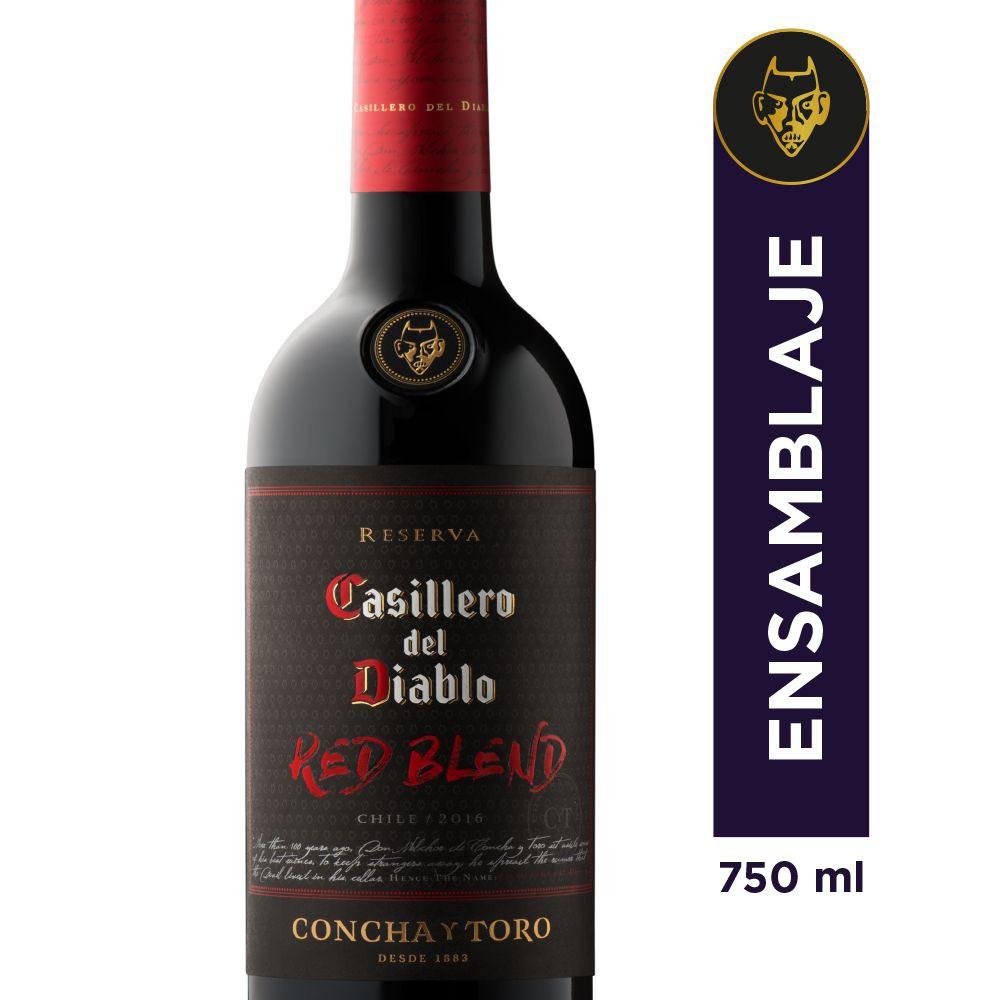 Vino red blend casill d/diablo 750cc bot 13 g - 750 cc