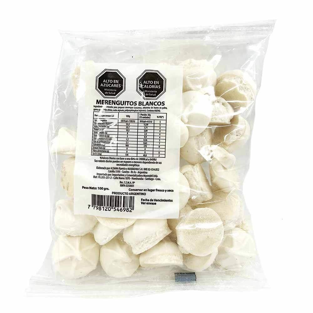 Merengues blancos macrodeli 100 grs