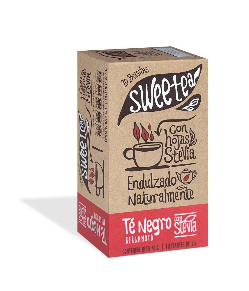Te c/stevia sweetea 20 un, negro