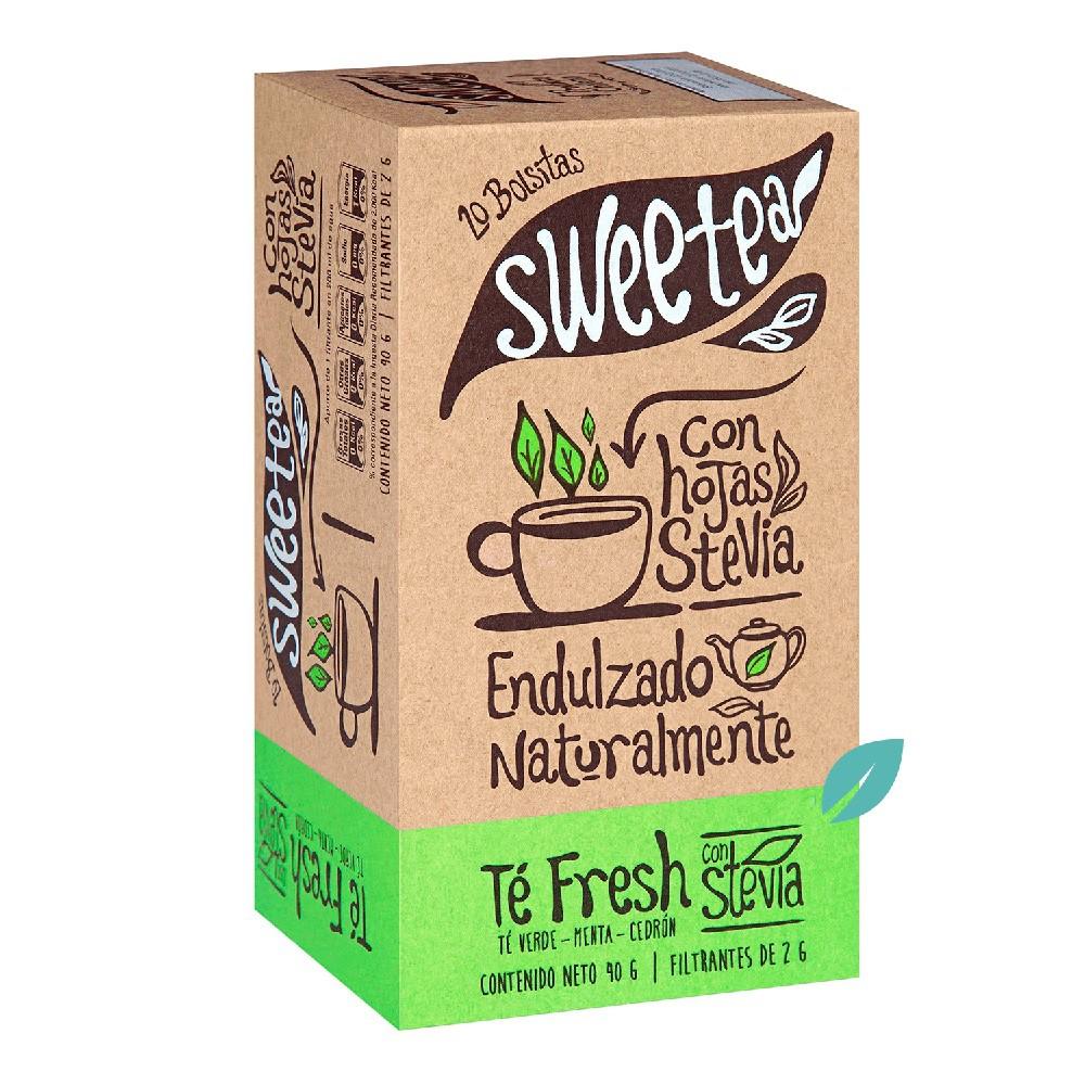 Te c/stevia sweetea, verde menta cedron