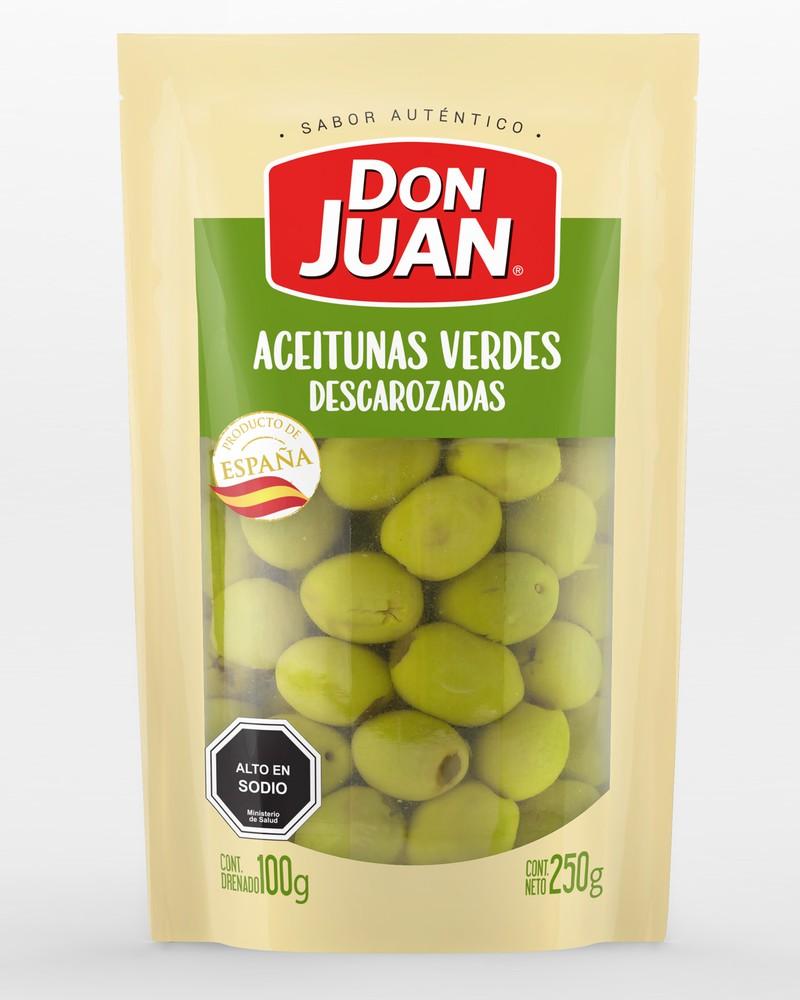 Aceitunas descarozadas don juan, verdes