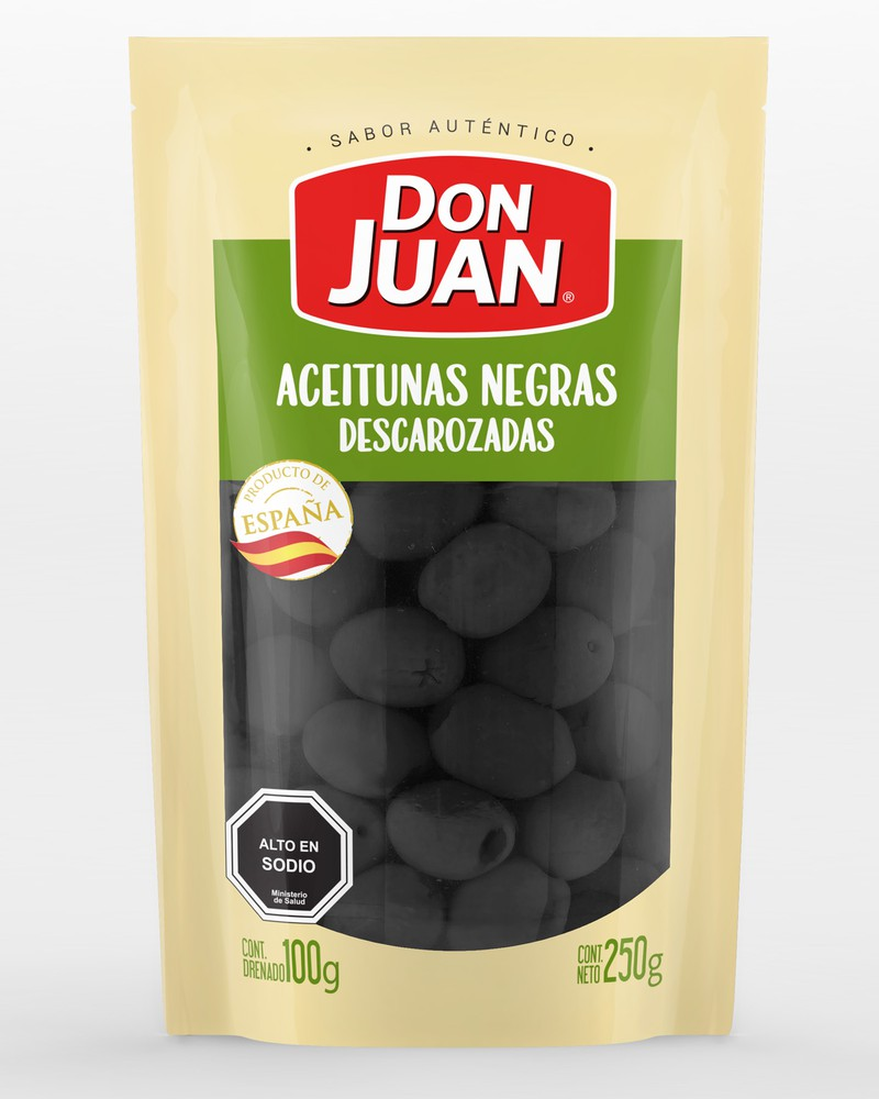 Aceitunas negras descarozadas