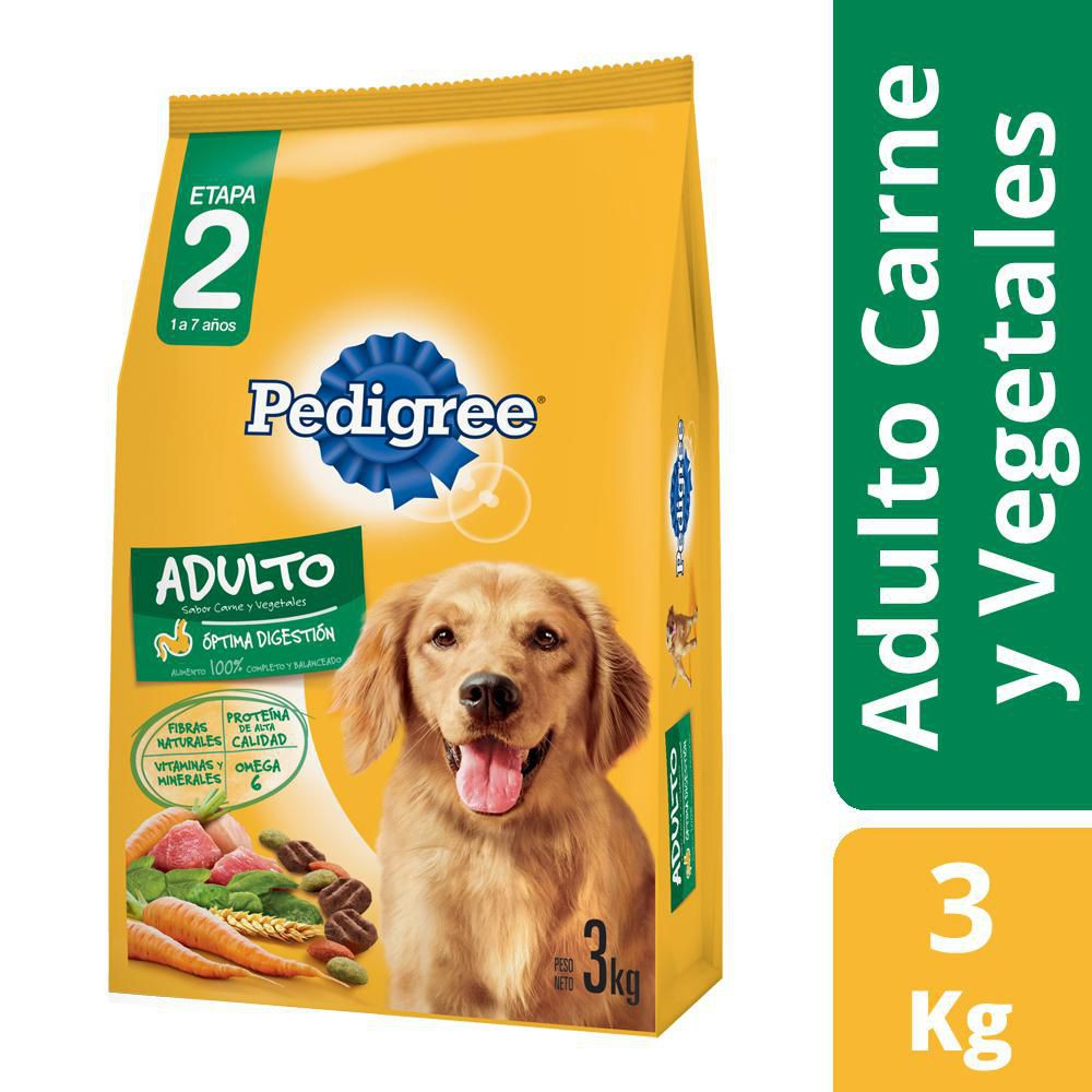 Alimento perro adulto Vital sabor carne y vegetales
