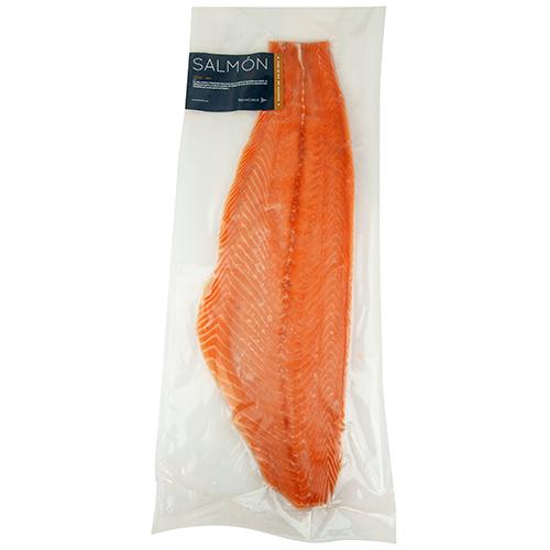 Filete de Salmón Atlántico con piel Congelado sellado al Vacío - 0.900 - 1.0 Kg aprox