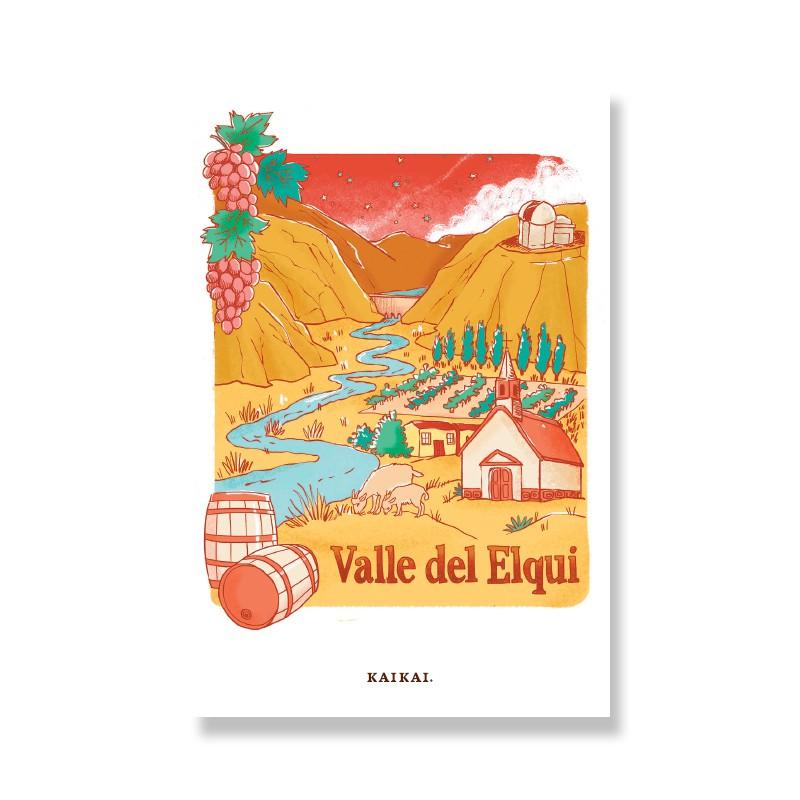 Postal Valle del Elqui Postal: 10 x 15 cm