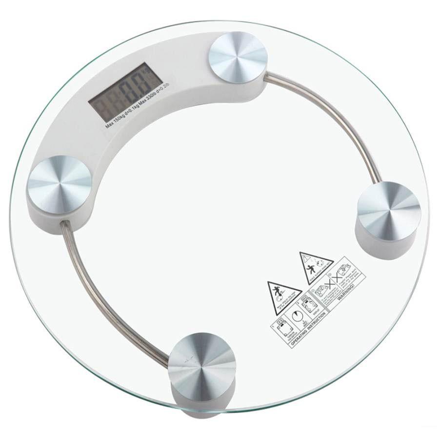Pesa digital redonda vidrio
