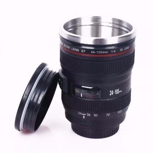 Mug lente cámara acero inoxidable 355 ml