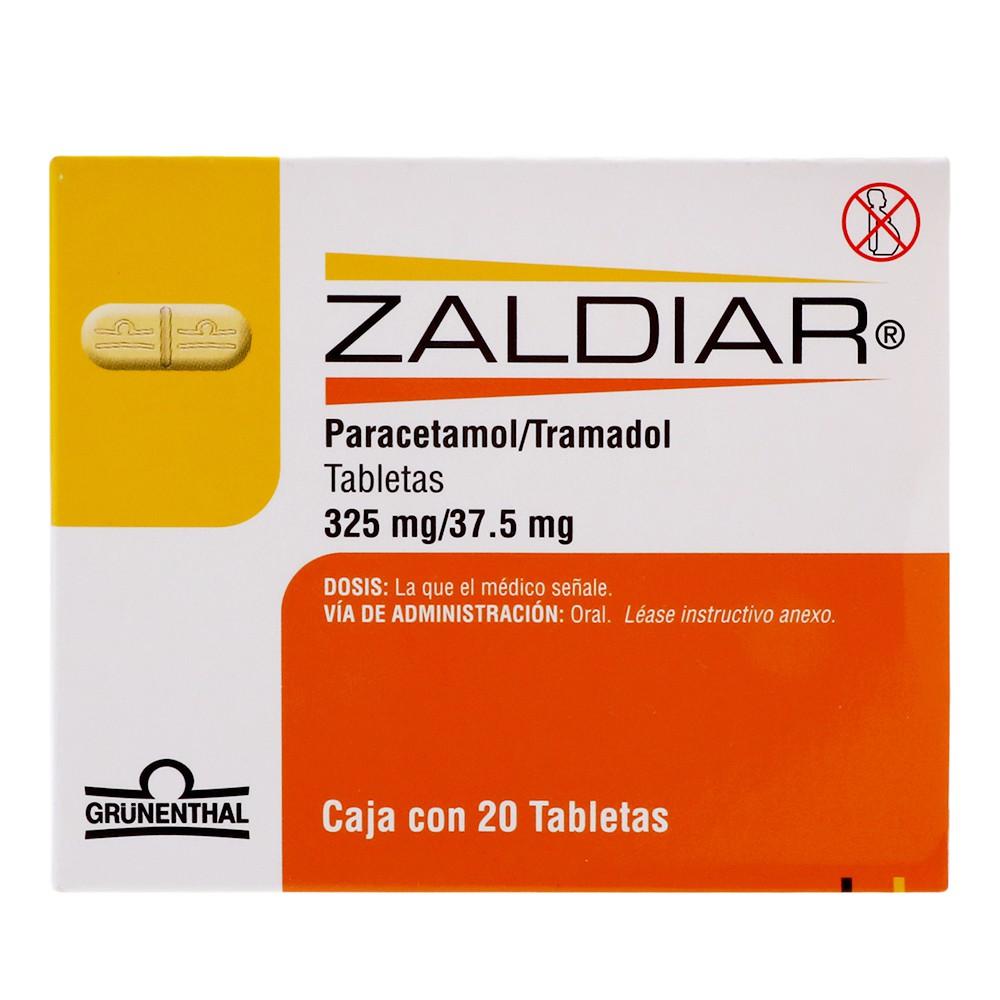 Tabletas Zaldiar 37.5mg / 325mg