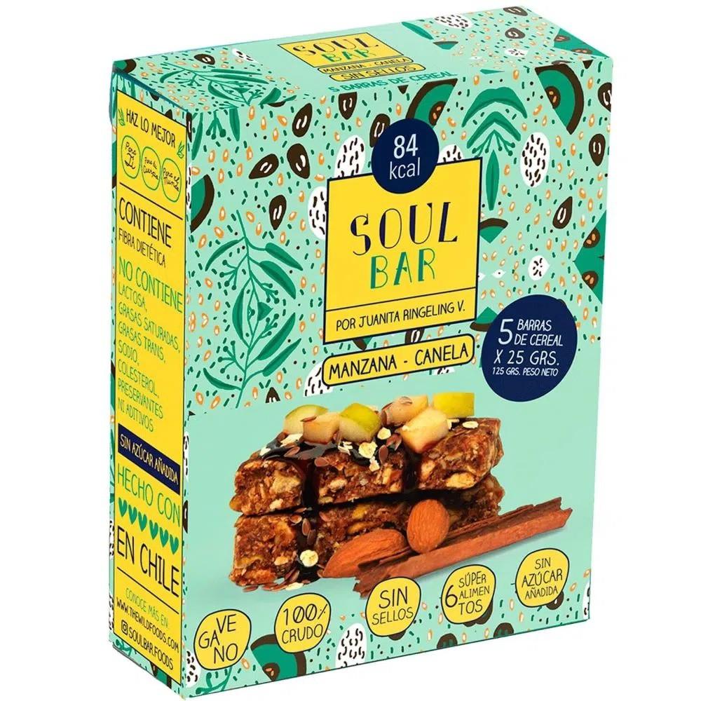 Barra cereal Soul bar manzana canela 5 barras x 25 g