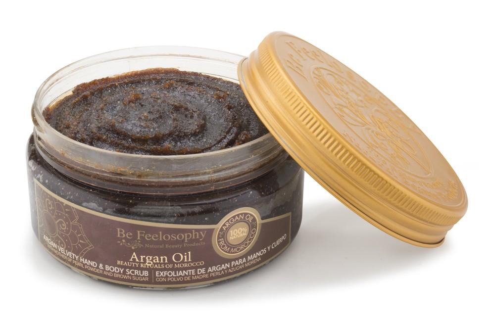 Exfoliante de argán para manos y cuerpo argan oil 200 ml